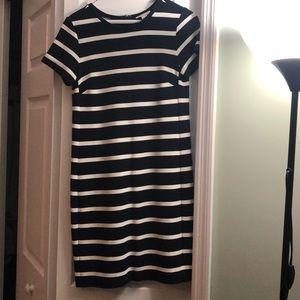 Women's navy and white striped dress!